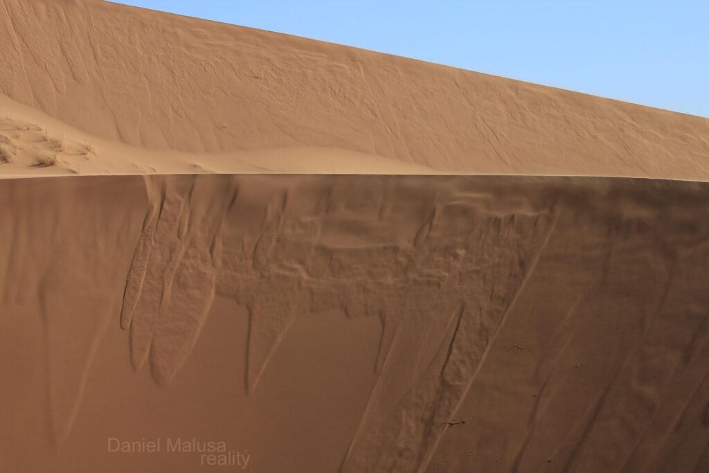 Two dunes in Sahara desert